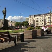 Photo taken at Triumfalnaya Square by Dmitry K. on 6/12/2013
