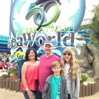 Photo taken at SeaWorld Annual Passport Member Entrance by Mariely B. on 6/9/2014