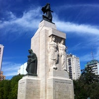Photo taken at Plaza Rivadavia by Stanislav T. on 11/10/2013