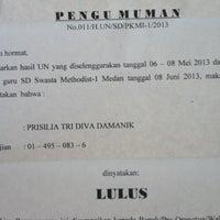 Photo taken at Perguruan Kristen Methodist 1 Medan by Anna F. on 6/8/2013