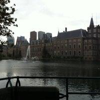 Photo taken at Hofvijver by Lissi M. on 9/28/2012