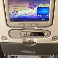 Photo taken at Thai Airways Flight TG 676 BKK-NRT by ooYOYAEoo on 6/25/2016