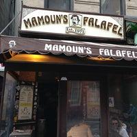 Photo taken at Mamoun's Falafel by Abdullah Z. on 3/10/2013