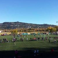 Photo taken at Fossum Idrettspark by Tore A. on 10/13/2013