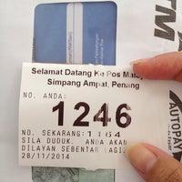 Photo taken at Pejabat Pos (Post Office) by Bibi ying on 11/28/2014