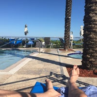 Photo taken at Poolside@ Miami Mariott by Joe P. on 2/11/2015