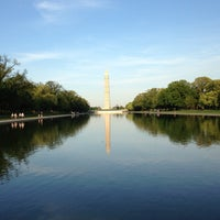 Photo taken at Lincoln Memorial Reflecting Pool by Justin D. on 4/26/2013