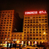 Photo taken at The Congress Plaza Hotel by Justin D. on 4/9/2013
