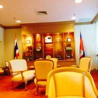 Photo taken at Royal Thai Embassy by Kongleaphy K. on 6/2/2014