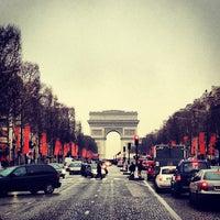 Photo taken at Avenue des Champs-Élysées by K A. on 4/4/2013