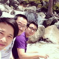 Photo taken at top of bassi falls by Wali T. on 5/17/2014