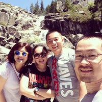 Photo taken at top of bassi falls by Wali T. on 5/25/2014