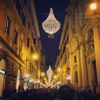 Photo taken at Via del Corso by Samuel M. on 12/27/2012