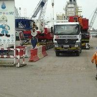 Photo taken at Al Jaber Heavy Lift & Transport Pte Ltd by Eechang Kamal on 4/16/2013
