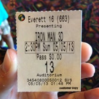 Photo taken at Regal Cinemas Everett Mall 16 & RPX by SharonFour A. on 5/5/2013
