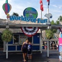 Photo taken at Worlds of Fun by Rob B. on 7/17/2013