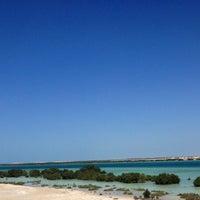 Photo taken at Yas Island Beach by Elena . on 2/22/2013