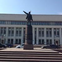 Photo taken at Памятник В.И. Ленину by Irina K. on 4/16/2013