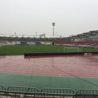 Photo taken at Tancheon Sports Complex Stadium by Gyu Pyoung L. on 10/2/2016