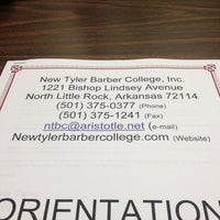Photo taken at New Tyler Barber College by Cyunvme J. on 8/13/2013