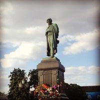 Photo taken at Памятник А. С. Пушкину by Kiril M. on 6/6/2013