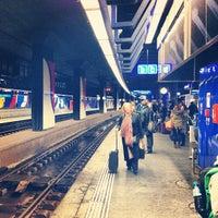 Photo taken at Zurich Airport Railway Station by Casey L. on 2/6/2013