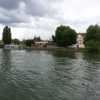 Photo taken at Bords de Seine by e b. on 8/3/2014