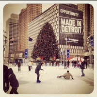 Photo taken at Campus Martius by Nikita S. on 12/26/2012