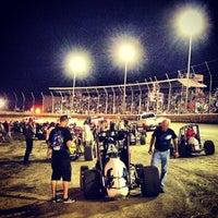 Photo taken at Belleville Highbanks Raceway by Dave D. on 8/4/2013