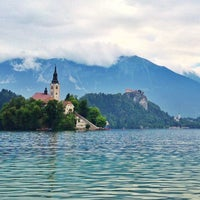 Photo taken at Bled by Lidia T. on 7/7/2013