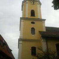 Photo taken at Ev Kirche Türkheim by Björn G. on 6/23/2013