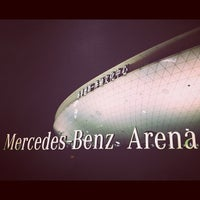 Photo taken at 梅赛德斯奔驰文化中心 Mercedes-Benz Arena by Michelle K. on 3/24/2012