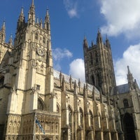 Photo taken at Canterbury Cathedral by Tomo A. on 4/6/2013