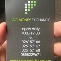 Photo taken at Jag Money Exchange by Patchara K. on 9/29/2013