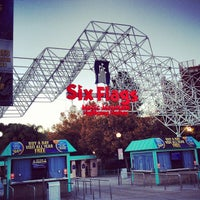 Photo taken at Six Flags Magic Mountain by Moath A. on 11/25/2012