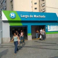 Photo taken at MetrôRio - Estação Largo do Machado by Zeno L. on 1/8/2013