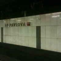 Photo taken at Metro =C= I. P. Pavlova by Ksyun P. on 9/29/2012
