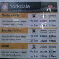 Photo taken at Yorkdale Subway Station by Marco R. on 12/14/2012