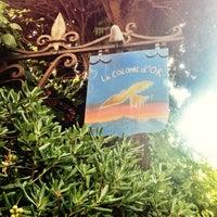 Photo taken at La Colombe d'Or by Alex B. on 10/6/2012