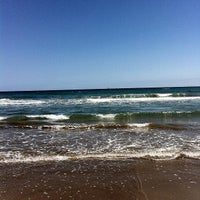 Photo taken at Les Arenes Beach by miguegilmarti on 4/20/2013
