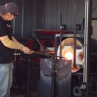 Photo taken at Morean Glass Studio & Hot Shop by Andrea O. on 2/8/2013