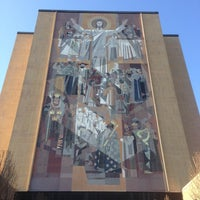 Photo taken at Hesburgh Library by Rogelio R. on 4/21/2013