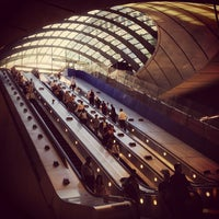 Photo taken at Canary Wharf London Underground Station by Andy B. on 7/25/2013