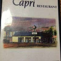 Photo taken at Capri Restaurant by Chris G. on 1/5/2013