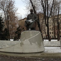 Photo taken at Abay Kunanbayev Monument by Andrey M. on 1/14/2013
