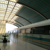 Photo taken at Maglev Train Longyang Road Station by Teejay K. on 4/25/2013