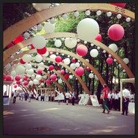 Photo taken at Sokolniki Park by Tanichka S. on 6/27/2013