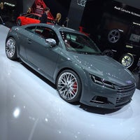 Photo taken at Audi Stand at Detroit Auto Show by FOURTITUDE.COM, The Audi Enthusiast Website on 1/12/2015