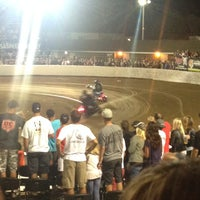 Photo taken at Costa Mesa Speedway by My A. on 8/24/2014