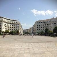 Photo taken at Aristotelous Square by Marius B. on 6/24/2013